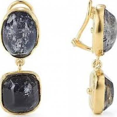 GOOSSENS boucle d'oreille cristal de roche teinté 270€