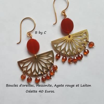 Boucles d'oreilles Hessonite - Odette 40€
