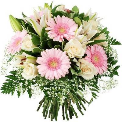 bouquet ton rose blanc