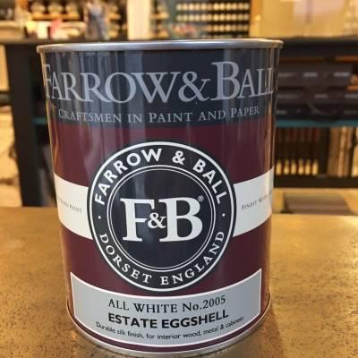 Peinture F&B - Estate Eggshell - 132 Couleurs - 750 ml / 2.5 L / 5 L