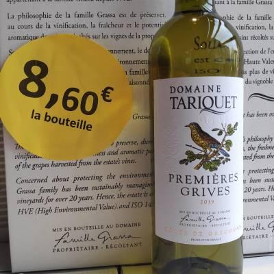 Tariquet Premières Grives 8,60€