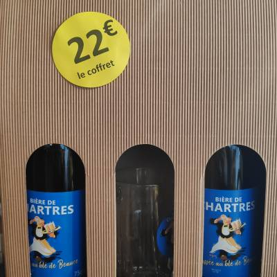 Coffret 2 grandes bières + un verre 22€