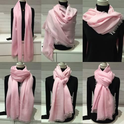 Écharpe étole laine rose