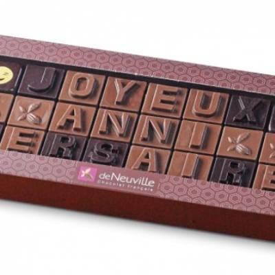 Collection Alphabet : dites-le en chocolat